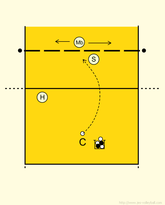 Volleyball Setting: Blocker movement setting